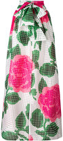 Tory Burch floral maxi skirt - women - Cotton/Polyester - 2
