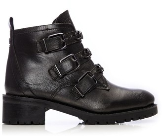 Coleene Pewter Leather