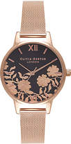 Olivia Burton Women's Lace Detail Bracelet Strap Watch