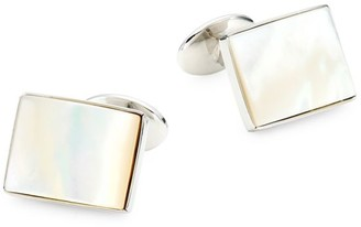 David Donahue 2-Piece Sterling Silver & Mother Of Pearl Cufflink