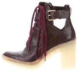 Alexander Wang Embossed Platform Ankle Boots