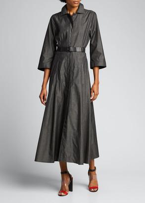 Akris Sea Island Cotton Fit-&-Flare Dress