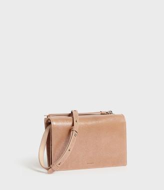 AllSaints Glitz Chain Leather Wallet Crossbody Bag