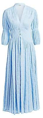 Cult Gaia Women's Willow Puff Sleeve Pleated Dress