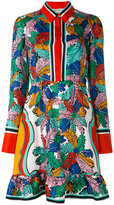 Emilio Pucci leaf print dress - women - Silk - 42