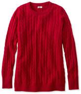 L.L. Bean Classic Cashmere Sweater, Cable Crewneck