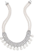 Nina Silver-Tone Crystal & Imitation Pearl Statement Necklace