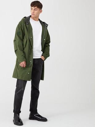 Pretty Green Hooded Parka - Green