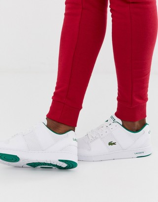 Lacoste Thrill chunky trainers in white leather
