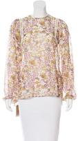 Giamba Silk Floral Print Blouse w/ Tags