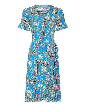 Yumi Curves Floral Wrap Dress