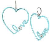 Betsey Johnson Harlem Shuffle Love Blue Earrings