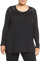 Melissa McCarthy Layer Look Embellished Top (Plus Size)
