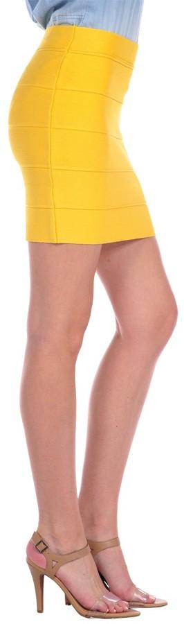 Romeo & Juliet Couture Sour Lemon Banded Skirt