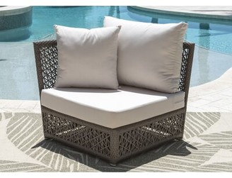 Panama Jack Maldives Corner Patio Chair with Sunbrella Cushions Outdoor Cushion Color: Spectrum Almond