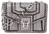 Proenza Schouler Hava Snake Patchwork Chain Shoulder Bag, Black/White