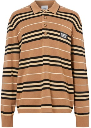 Burberry Icon Stripe knitted polo shirt