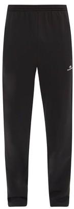 Balenciaga Logo-embroidered Side-stripe Jersey Track Pants - Black White