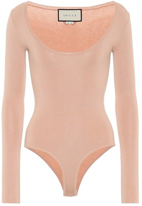 Gucci Cashmere and silk-blend bodysuit