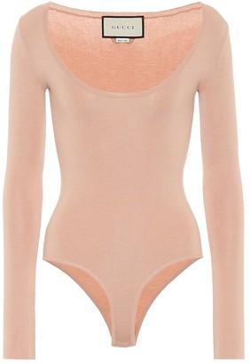 Gucci Cashmere and silk-blend bodysuit