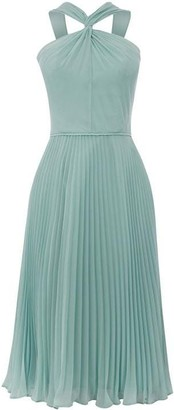 Oasis Twist Neck Chiffon Midi Dress