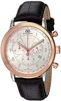 88 Rue du Rhone Men's 'Double 8 Origin' Swiss Quartz Stainless Steel and Leather Dress Watch, Color:Black (Model: 87WA144213)