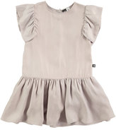 Molo Claire Sleeveless Smocked Dress, Gray, Size 3T-12
