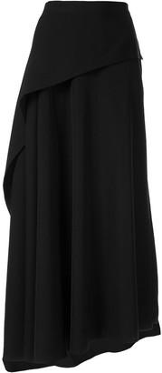 Yohji Yamamoto Draped Asymmetric Hem Skirt