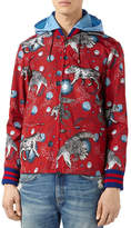 Gucci Space Animals Rain Jacket, Red