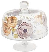 Pier 1 Imports French Fleur Painted Cake Stand with Dome