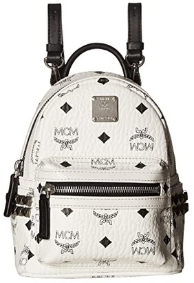 MCM Stark Side Stud X-Mini Backpack (Black) Backpack Bags