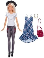 Barbie Fashionistas Doll and Hipster Chic Fashion Giftset