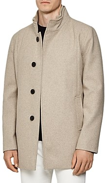 Reiss Angelo Wool-Blend Regular Fit Coat