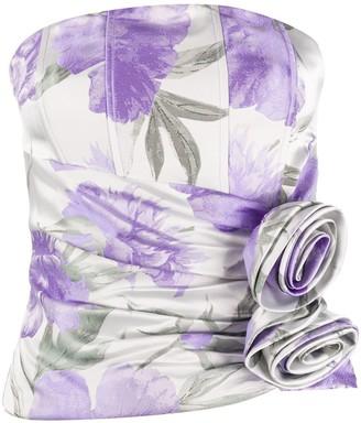 retrofete Rose Print Sleeveless Top