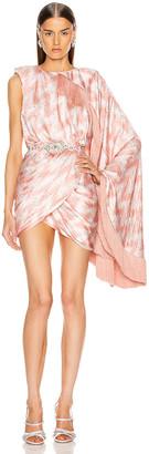 Raisa Vanessa RAISA&VANESSA Zig Zag Wrapped Mini Dress in Pink   FWRD