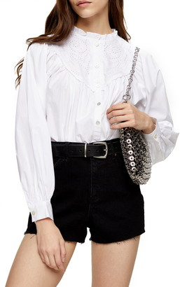 Topshop Broderie Anglaise Poet Shirt