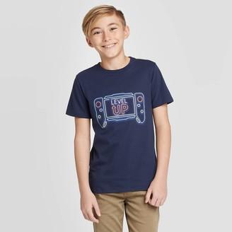 Cat & Jack Boys' Short Sleeve Gaming Graphic T-Shirt - Cat & JackTM Navy