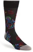 Bugatchi 'Brocade Flower' Socks