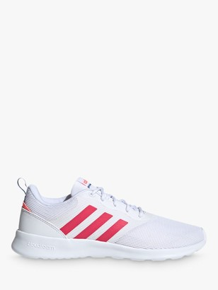 adidas QT Racer 2.0 Women's Trainers, Cloud White/Power Pink/Signal Pink