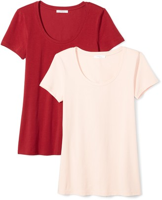 Daily Ritual Amazon Brand Women's Stretch Supima Short-Sleeve Scoop Neck T-Shirt
