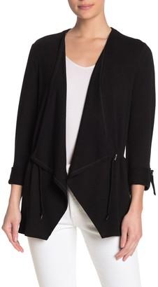 Cable & Gauge Drape Lapel Drawcord Waist Jacket