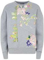 Alexander McQueen Embroidered Florals Patchwork Sweatshirt