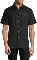 ProjekRaw Projek Raw Printed Button-Down Shirt