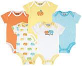 Luvable Friends Orange & Blue Elephant Bodysuit Set - Infant