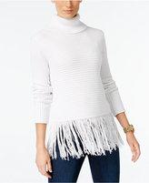 MICHAEL Michael Kors Fringe Turtleneck Sweater