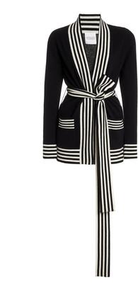 Madeleine Thompson Striped Varsity Cashmere Cardigan