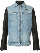 RtA denim layered jacket