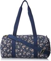 Wild Pair Floral Printed Canvas With Webbed Straps Duffle Handbag