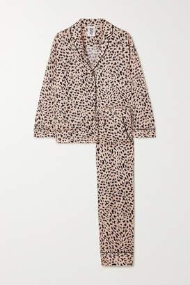 Les Girls Les Boys - Animal-print Jersey Pajama Set - Peach
