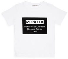 Moncler Unisex Flocked Logo Tee - Little Kid, Big Kid